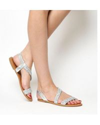 Office - Sparkle Embellished Sling Back Sandals - Lyst