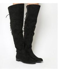 Office - Knockout Lace Back Over The Knee Boots - Lyst
