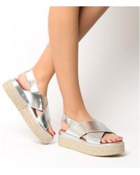 Inuovo - Cross Strap Wedge - Lyst