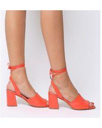 Office - Miffy Tie Block Sandal - Lyst