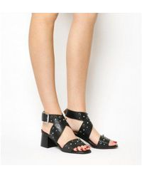 3d7148ad151 Lyst - Office Holy Block Heel Sandal in Black