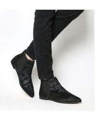 Office - Cat Pointy Flat Ankle Boots - Lyst