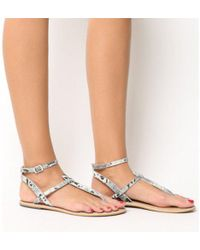 Office - Salsa Ankle Strap Toe Post - Lyst