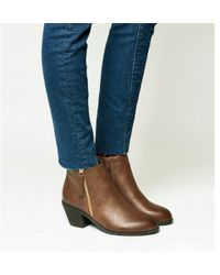 Office - Anita Side Zip Western Mid Boot - Lyst