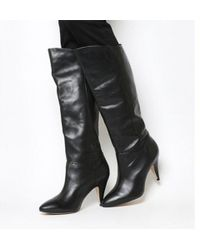 Office - Kiss Slouch Heeeld Knee Boots - Lyst