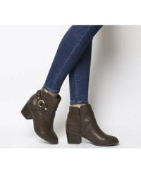 Office - Angelina- Block Heel Strap Ankle Boot - Lyst