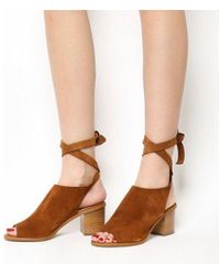 Office - Morocco Cuff Block Heel Ankle Tie Sandals - Lyst