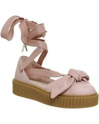 f36d81641572 PUMA - Bow Creeper Leather Ballet Sandals - Lyst