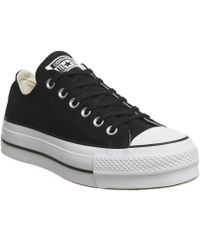 ff0a7bbc7180 Lyst - Converse All Star Low Platform in Gray