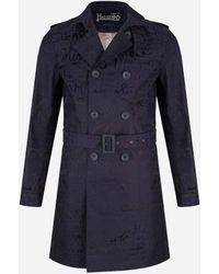 Herno - Limited Edition Waterafstotende Trenchcoat Blauw - Lyst
