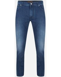 Corneliani - Regular-fit Stretch Luxury Jeans Blauw Denim - Lyst