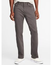 Old Navy - Straight Built-in Tough All-temp Five-pocket Pants - Lyst