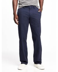 Old Navy - Straight Ultimate Built-in Flex Khakis - Lyst