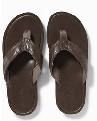 Old Navy - Faux-leather Flip-flops - Lyst