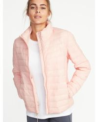 Old Navy - Packable Quilted Nylon Jacket - Lyst