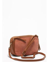 Old Navy - Faux-leather/novelty Fabric Camera Bag - Lyst