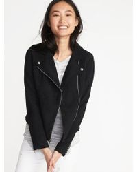 Old Navy - Sueded-knit Moto Jacket - Lyst