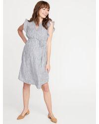 3d12ddcd86 Old Navy - Maternity Patterned Tie-belt Shirt Dress - Lyst