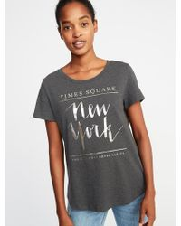 Old Navy - New York Times Square Tee - Lyst