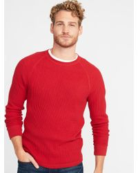 Old Navy - Chunky Textured Thermal-knit Tee - Lyst