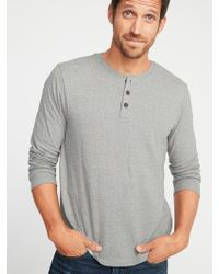 e2eb64ae Old Navy Soft-washed Thermal-knit Raglan Tee in Black for Men - Lyst