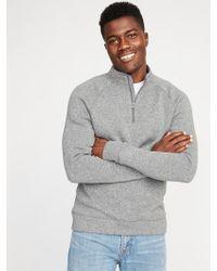 Old Navy - Mock-neck 1/4-zip Sweater-fleece Pullover - Lyst