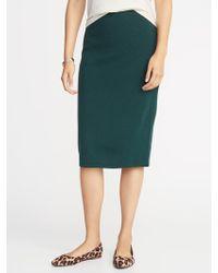 e0622f6474 Ralph Lauren Collection Sweater Pencil Skirt in Black - Lyst