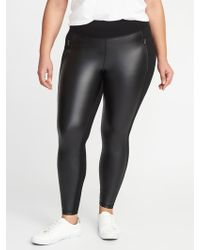 041213beca5 Old Navy - High-rise Zip-pocket Faux-leather ponte Plus-