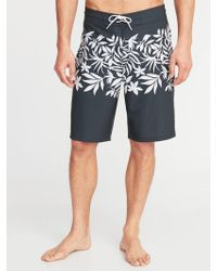 b778afb7ce Old Navy Printed Swim Trunks in Blue for Men - Lyst