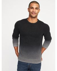Old Navy - Garment-dyed Textured Sweater - Lyst