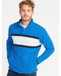 Old Navy - Micro Performance Fleece Color-blocked Pullover - Lyst