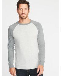 Old Navy - Color-block Raglan-sleeve Sweater - Lyst