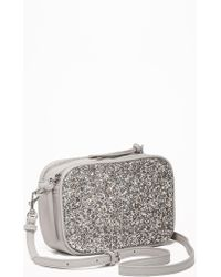 Old Navy - Glitter/faux-leather Camera Bag - Lyst