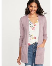 81b0b4f019 Old Navy - Open-front Long-line Sweater - Lyst