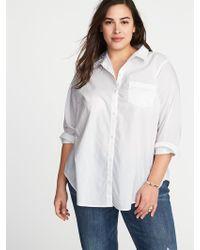Old Navy - Classic Plus-size Clean-slate No-peek Shirt - Lyst