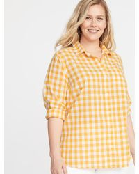 cc46c043 Old Navy Chambray Plus-size Classic No-peek Shirt in Blue - Lyst