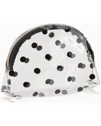 Old Navy - Clear Polka-dot Cosmetic Bag - Lyst