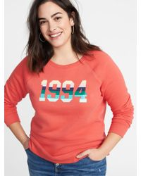 0dbeebd3338 Lyst - Old Navy Relaxed Plus-size Graphic French-terry Sweatshirt in ...