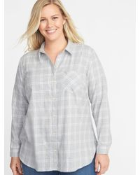 20141ffa51fe9 Lyst - Old Navy Classic Plus-size No-peek Striped Tunic in Pink