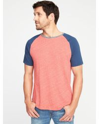 Old Navy - Color-blocked Raglan Tee - Lyst