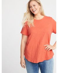 710ead055a9 Lyst - Old Navy Everywear Plus-size Slub-knit Tuck-in Tee in Red