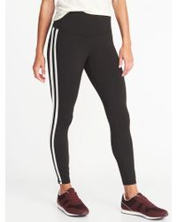 2507c6f0b9d Lyst - Old Navy High-rise 7 8-length Compression Leggings in Black