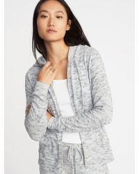 Old Navy - Relaxed Plush-knit Lounge Hoodie - Lyst