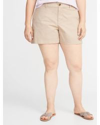 a9241fa831f Old Navy - Mid-rise Plus-size Everyday Twill Shorts - 5 Inch Inseam