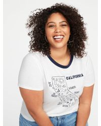 45df883742a79 Lyst - Old Navy Everywear Plus-size Graphic Slub-knit Tee in Red