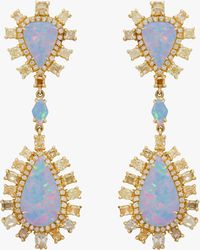 Nina Runsdorf - Crystal Opal Drop Earrings - Lyst