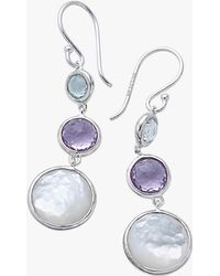 Ippolita - Lollipop Lollitini Three Stone Drop Earrings - Lyst