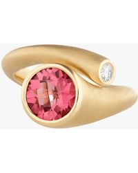 Carelle - Whirl Pink Tourmaline And Diamond Ring - Lyst