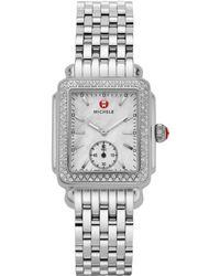 Michele Watches - Deco Mid Diamond Watch - Lyst