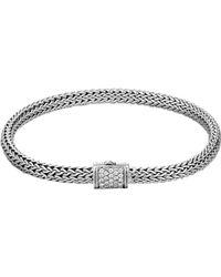 John Hardy - Classic Chain Diamond Bracelet - Lyst